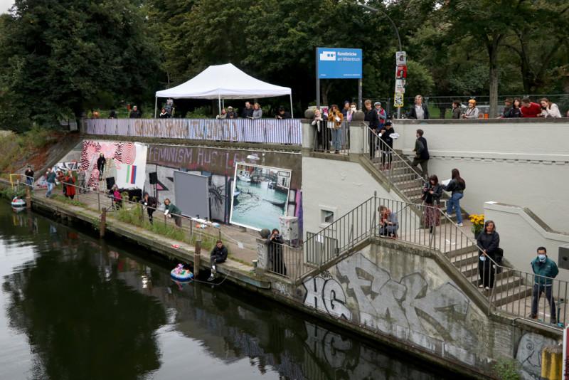 Blick auf die Kunstbrücke