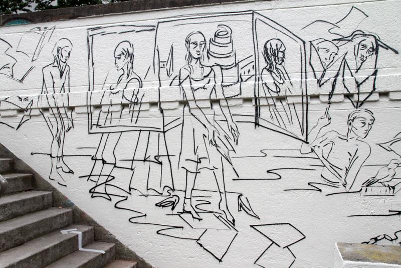 Graffito von Natalia Korotyaeva